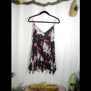FREE PEOPLE intimately dark floral slip dress